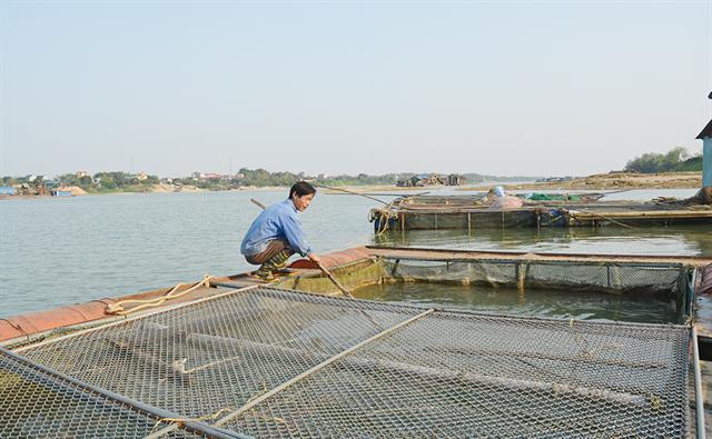 Đảm bảo vệ sinh trong nuôi thủy sản ở Phù Ninh